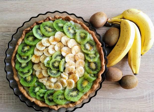 Recette Tarte kiwi banane